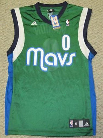 Dallas Mavericks Marion Jersey 0 Adidas Green Mens XL