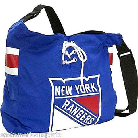 New York Rangers MVP Veteran Jersey Messenger Purse Tote Hand Bag Littlearth