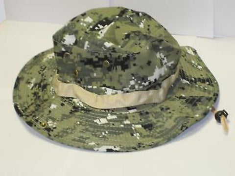 Camo Boonie Hat Cap Digital Pixel Green Army Military Camouflage Fishing Hunting