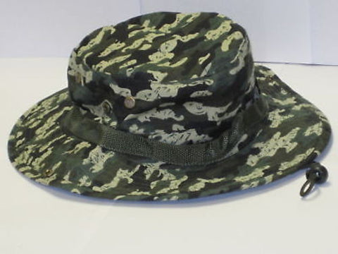Camo Boonie Hat Cap Rain Forest Green Sun Visor Army Military Fishing Hunting