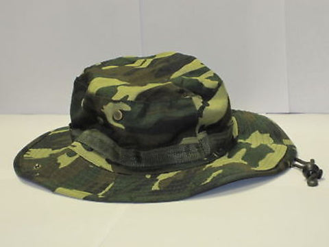 Camo Boonie Hat Cap Woodland Army Military Camouflage Sun Visor Fishing Hunting