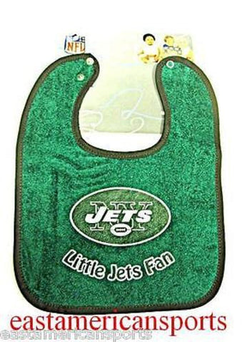 New York Jets NFL Baby Boys Green Snap Bib Infant Toddler Newborn Little Fan