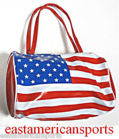 USA America American Bowler Roll Bag Flag Pride Travel Toiletry Case Tote Purse