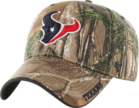 Houston Texans NFL '47 MVP Realtree Frost Camo Hat Cap Adult Men's Adjustable