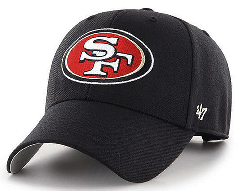 San Francisco 49ers NFL '47 MVP Basic Black Hat Cap Adult Men's Adjustable