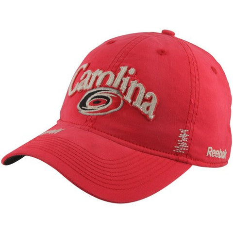 Reebok NHL Carolina Hurricanes Garment Wash Adjustable Slouch Hat - Red ER82Z