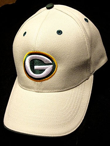 Green Bay Packers NFL Team Apparel Khaki Structured Hat Cap Adult Men's Adjustable