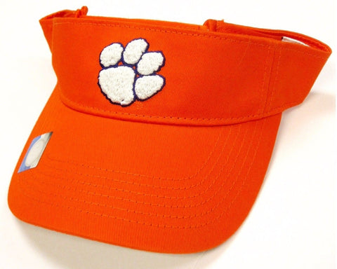 Clemson Tigers NCAA Orange White Logo Golf Sun Visor Adult Men's Adjustable