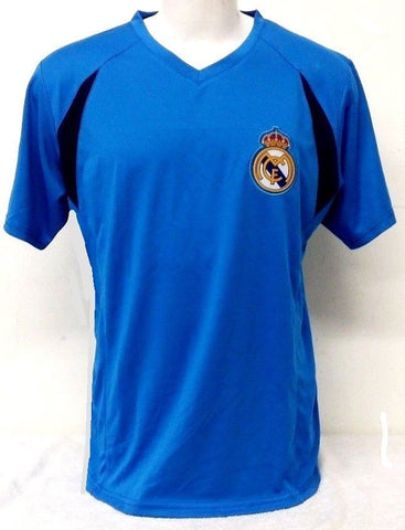 Real Madrid Soccer Blue Training Jersey Shirt Rhinox Adult Men's Sizes S M L XL