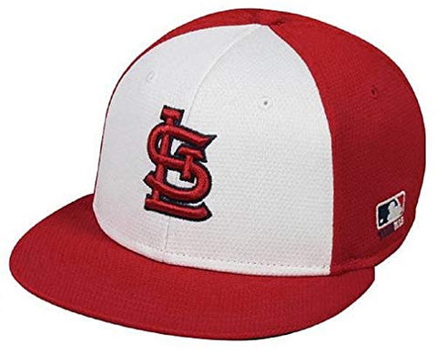 St. Louis Cardinals MLB OC Sports Red White Colorblock Flat Hat Cap Adult Men's Adjustable