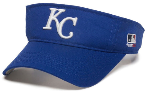OC Sports Kansas City Royals MLB Blue Golf Sun Visor Hat Cap Adult Men's Adjustable
