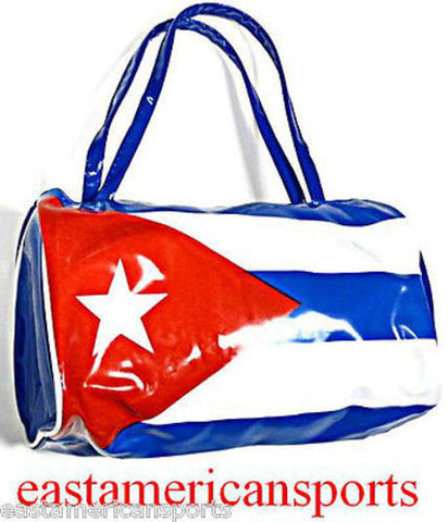 Cuba Cuban Bowler Roll Duffle Bag Flag Pride Travel Toiletry Case Tote Purse