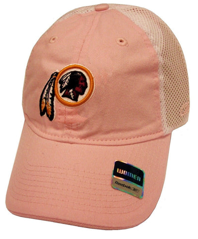 Washington Redskins NFL Reebok Pastel Pink Slouch Relaxed Hat Cap Mesh Women's