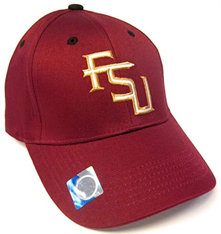 Captivating Headwear Florida State Seminoles FSU NCAA Basic Maroon Structured Hat Cap Adult Men's Adjustable