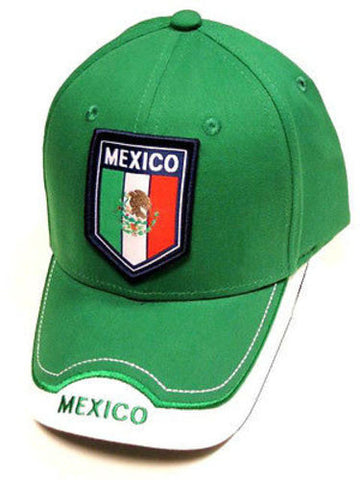 Mexico Green Soccer Country Hat Cap EMBROIDERED Patch Flag Rhinox World Cup