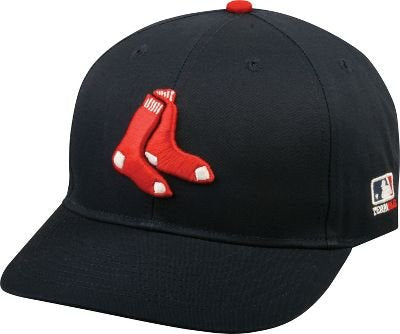 "OC Sports MLB-300 MLB Cotton Twill Baseball Cap - Boston Red Sox Alternate Navy / 6 7/8"" - 7 1/2"""