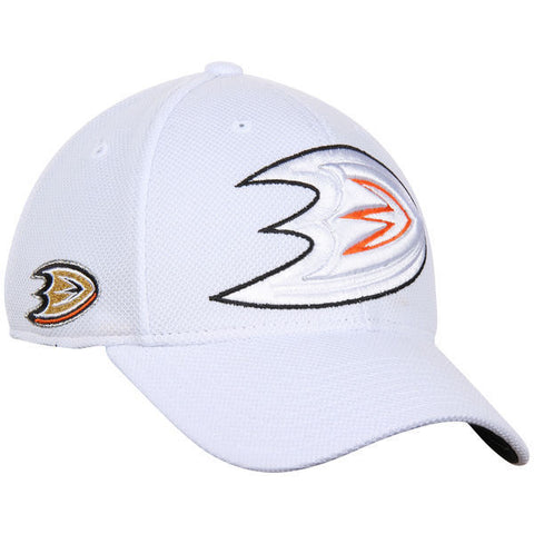 Anaheim Ducks NHL Reebok Center Ice Hat Cap White Second Season Flex Fit S/M