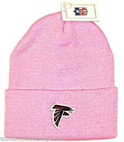Atlanta Falcons NFL Pink Knit Hat Cap Breast Cancer Beanie Womens Girls Winter