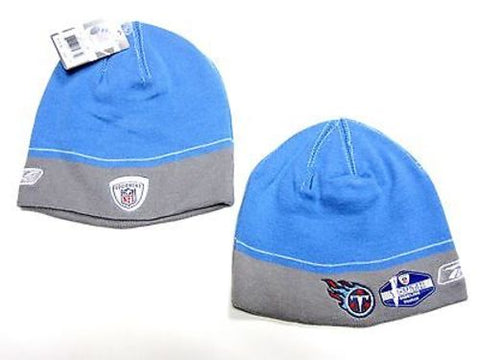 Tennessee Titans NFL YOUTH Reebok Sideline Two Tone Hat Cap Knit Blue Beanie
