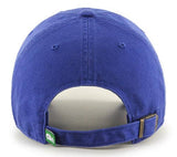 Hartford Whalers NHL '47 Vintage Royal Blue Clean Up Hat Cap Adult Adjustable