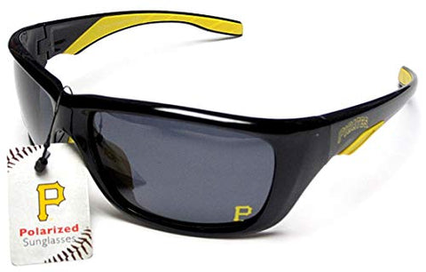 CA Accessories Pittsburgh Pirates MLB Full Wrap Black Frame Polarized Sunglasses UV Protection Lenses