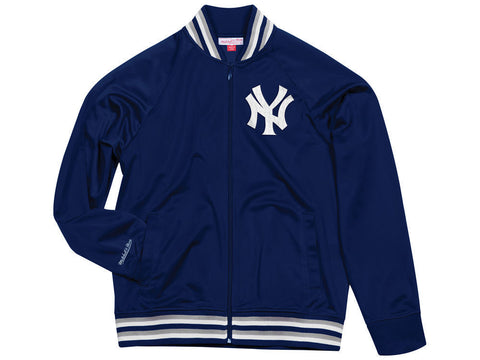 New York Yankees MLB Mitchell & Ness Navy Blue Top Prospect Track Jacket Men's