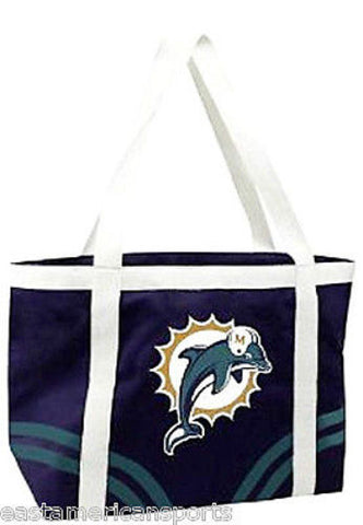 Miami Dolphins NFL Retro Canvas Tailgate Bag Purse Tote Beach Handbag Littlearth