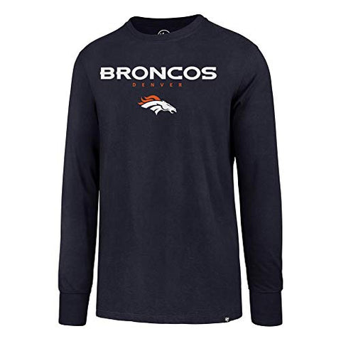 '47 Denver Broncos Long Sleeve Tee Pregame Super Rival Tee