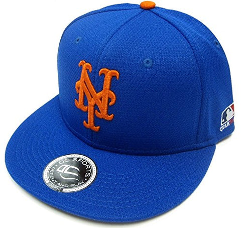 Outdoor Cap New York Mets MLB OC Sports Q3 Flat Hat Cap Solid Royal Blue NY Logo OSFM