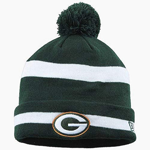 "Green Bay Packers New Era NFL ""Throwback Winter Fresh"" Cuffed Knit Hat w/ Pom"