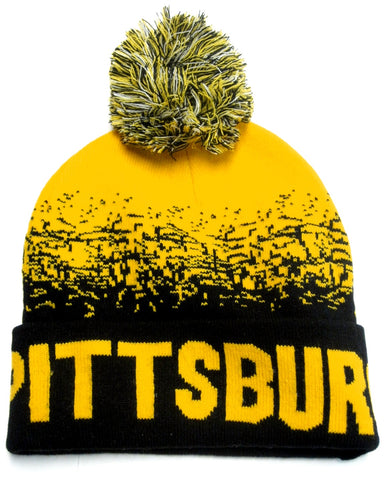 Pittsburgh Steelers Black Yellow Classic POM Ball Knit Hat Cap Winter Ski Beanie
