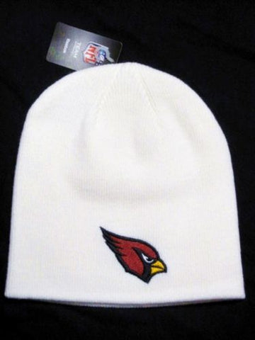 Arizona Cardinals NFL Reebok Solid White Knit Hat Skull Cap Snow Winter Beanie