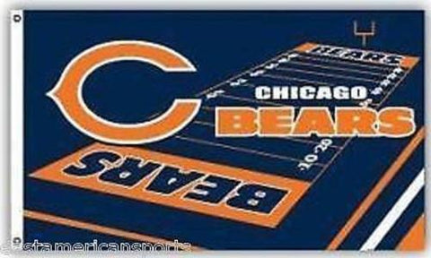Chicago Bears NFL 3 x 5 Field Yard Flag Pole Fan Banner Tailgate Home Bar Decor