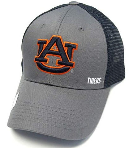 Captivating Headwear Auburn Tigers NCAA Gray Navy Blue Mesh Structured Hat Cap Adult Men's Adjustable