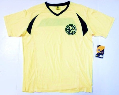 Club America Liga Mexico Yellow Licensed Jersey Shirt Soccer Futbol Mens Small