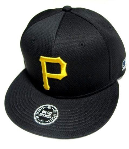 Pittsburgh Pirates MLB OC Sports Hat Cap Q3 Flat Visor Yellow P Logo Team Velcro