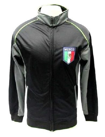 Mexico International Team Black / Gray Track Jacket Soccer Futbol Men's Small