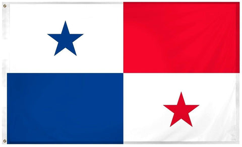 Panama Panamanian 3' x 5' Flag w/ Grommets to Hang Pride Country Soccer Banner