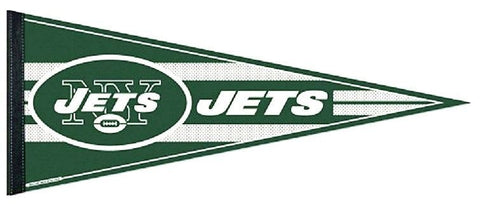 "New York Jets NFL 30"" Official Oval Text Logo Felt Pennant Flag Banner"