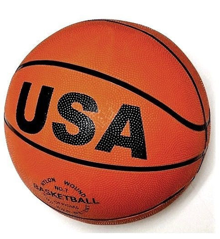 Official Weight & Size No. 7 USA Durable Rubber Orange Basketball w/ Black Lines