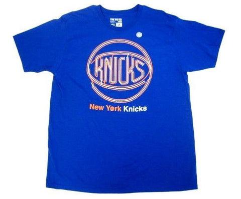 New York Knicks NBA Adidas Basketball The Go To Tee Blue Orange T Shirt Men's XL