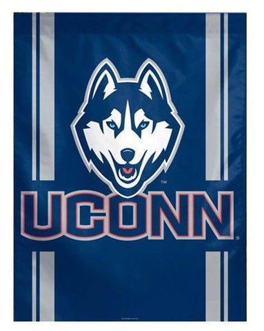 UConn Huskies NCAA 27 x 37 Vertical Hanging Wall Flag Fan Banner Bar Dorm Room