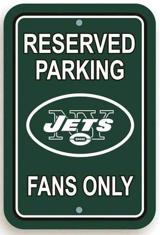 "New York Jets NFL 12"" x 18"" Reserved Parking Fans Only Street Sign Logo"