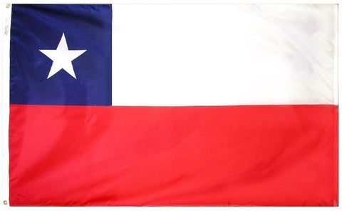 Chile Chilean 3' x 5' Flag w/ Grommets to Hang Pride Country Soccer Banner