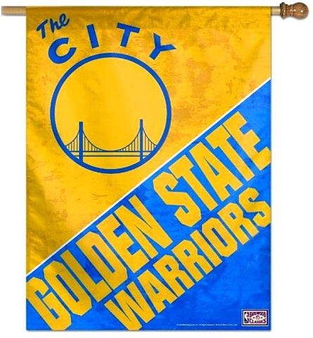 Golden State Warriors NBA 27 x 37 THE CITY Vertical Hanging Wall Flag Fan Banner