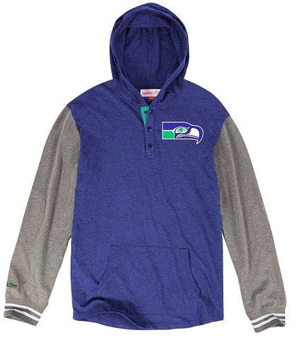 Seattle Seahawks NFL Mitchell & Ness Mid-Season Long Sleeve Hooded Hoodie 2XL