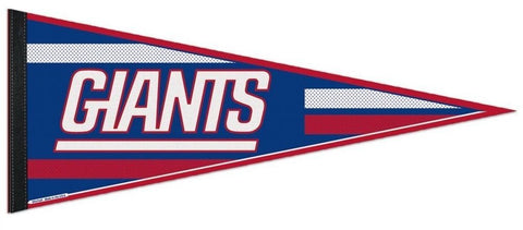 "New York Giants NFL 30"" Official Underlined Text Logo Felt Pennant Flag Banner"