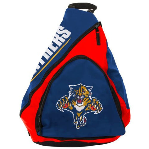 NHL Florida Panthers Slingback Backpack - Navy Blue/ Red