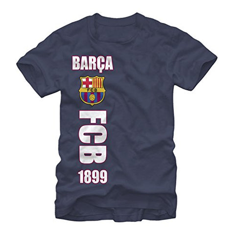 FC Barcelona Side Logo Mens Graphic T Shirt