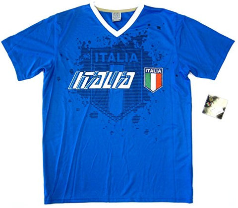 Rhinox Italy Italia Blue Performance Training Jersey Soccer T-Shirt Adult Men's S, M, L, XL